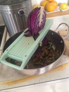 the mandolin is my favorite tool for making delicious salads!